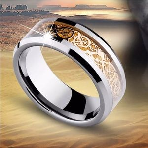 Celtic Stainless Steal Titanium & Gold men's Band